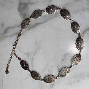 Boho Style/Concho Chain Belt - Silver